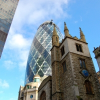 London: Gherkin Tower, St. Mary Axe