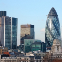 London: Financial District, Gherkin Tower