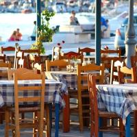 Naxos: Restaurant am Hafen
