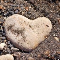Naxos. Ein Herz am Strand