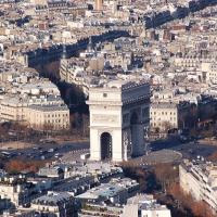 Paris: L'Arc de Triomphe, Blick vom Tour Eiffel