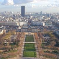 Paris: École Militaire, Blick vom Tour Eiffel