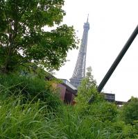 Paris: Tour Eiffel vom Musée du Quai Branly