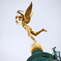 Paris: Engel auf Colonne de Juillet,  Place de la Bastille