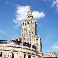 Polen: Kulturpalast in Warschau