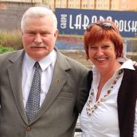 Polen: Lech Wałęsa in Gdansk / Danzig