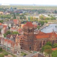 Polen: Blick von der Marienkirche in Gdansk / Danzig