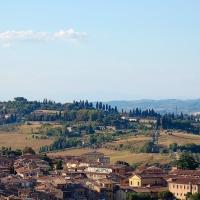 Toskana: Siena, Blick vom Torre del Mangia