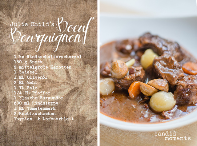 Boeuf Bourguignon Julia Child Rezept candid moments fotografie SIlvia Hintermayer