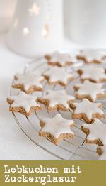 Lebkuchen mit Zuckerglasur