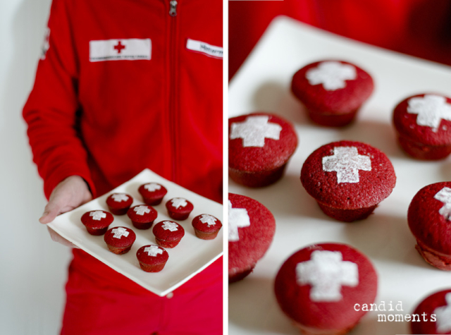 Rot-Kreuz-Red-Velvet-Cupcakes candid moments Silvia Hintermayer