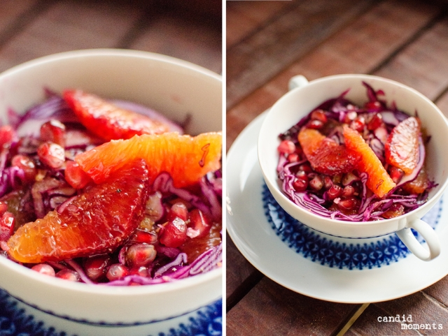 Rotkraut-Granatapfel-Salat