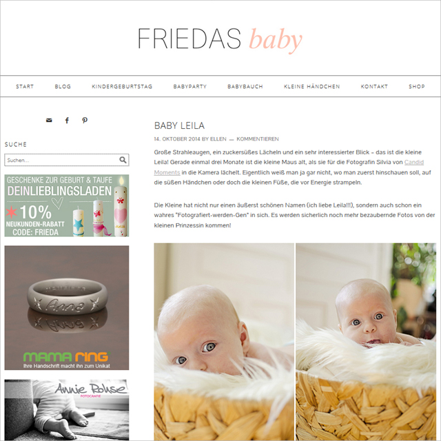 Friedas Baby Feature