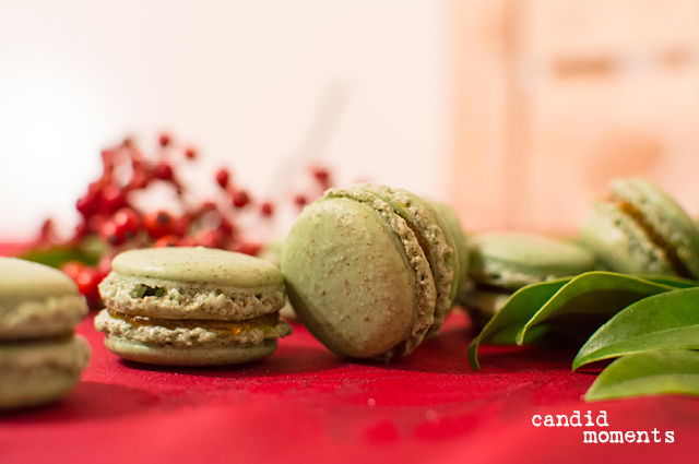 Weihnachtsmacarons
