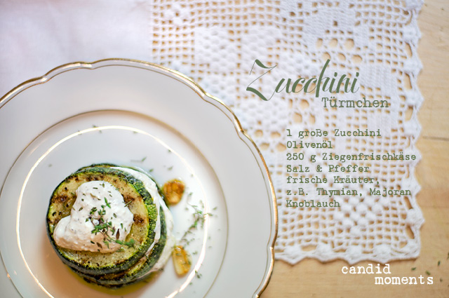 Zucchini-Frischkäse-Türmchen Rezept